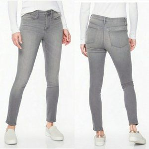 Athleta Gray Sculptek High Rise Skinny Jeans, 6